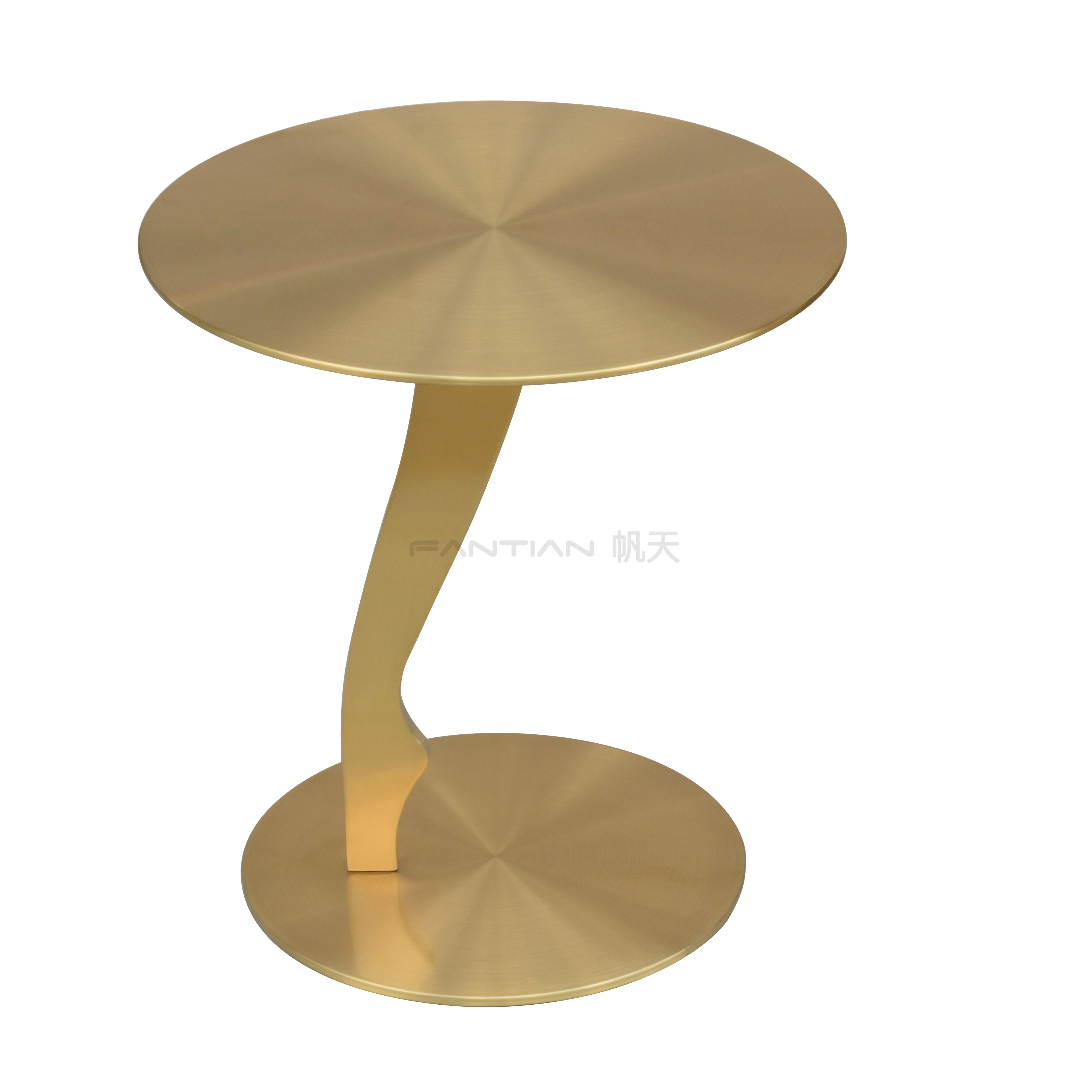 2020 Novel Design Side Table Stainless Steel With Round Base For Hotel Furniture