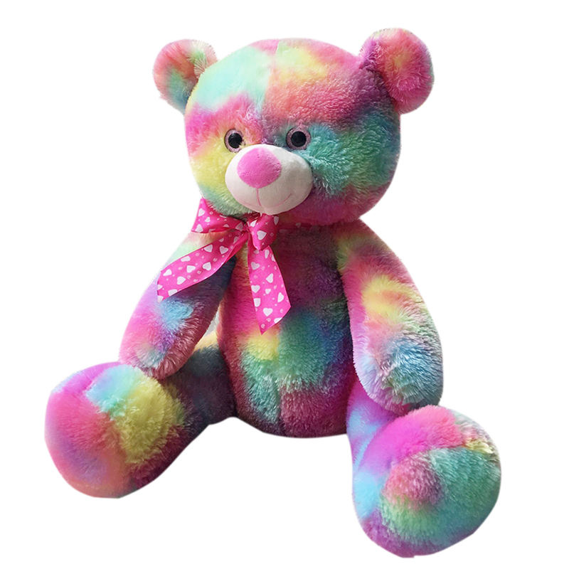 2021 new design colorful bear toys cute stuffed plush teddy animal bear toy