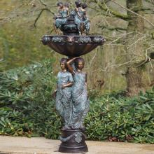 indian lady sculpture fountain statue with a Water Jug