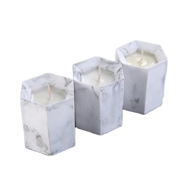 Wholesale creative soywax pillar private label scented candles