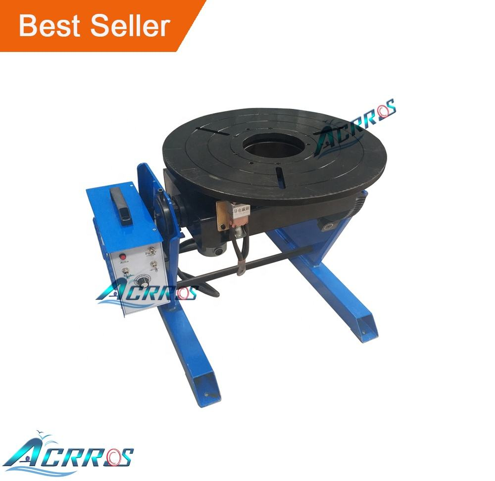 AC Motor 300KGS Welding Positioner for Pipe / 300kg welding positioner with 400mm chuck