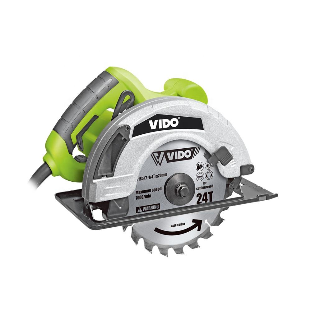 VIDO portable compact 1500w 7inch 185mm blade mini circular saw machine for wood cutting