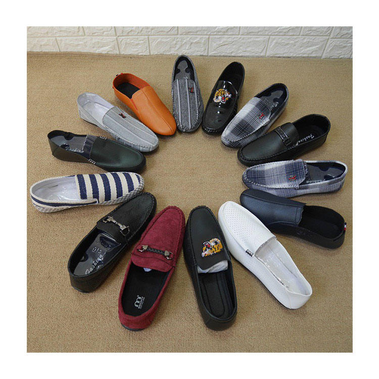MH832 wholesale cheap and comfortcasual loafer stocklot for men driving men loafers casual folding flat shoes