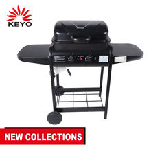 Wholesale 2 burner outdoor restaurant bbq gas grill malaysia barbecue with back burner wood infrared lava stone grill