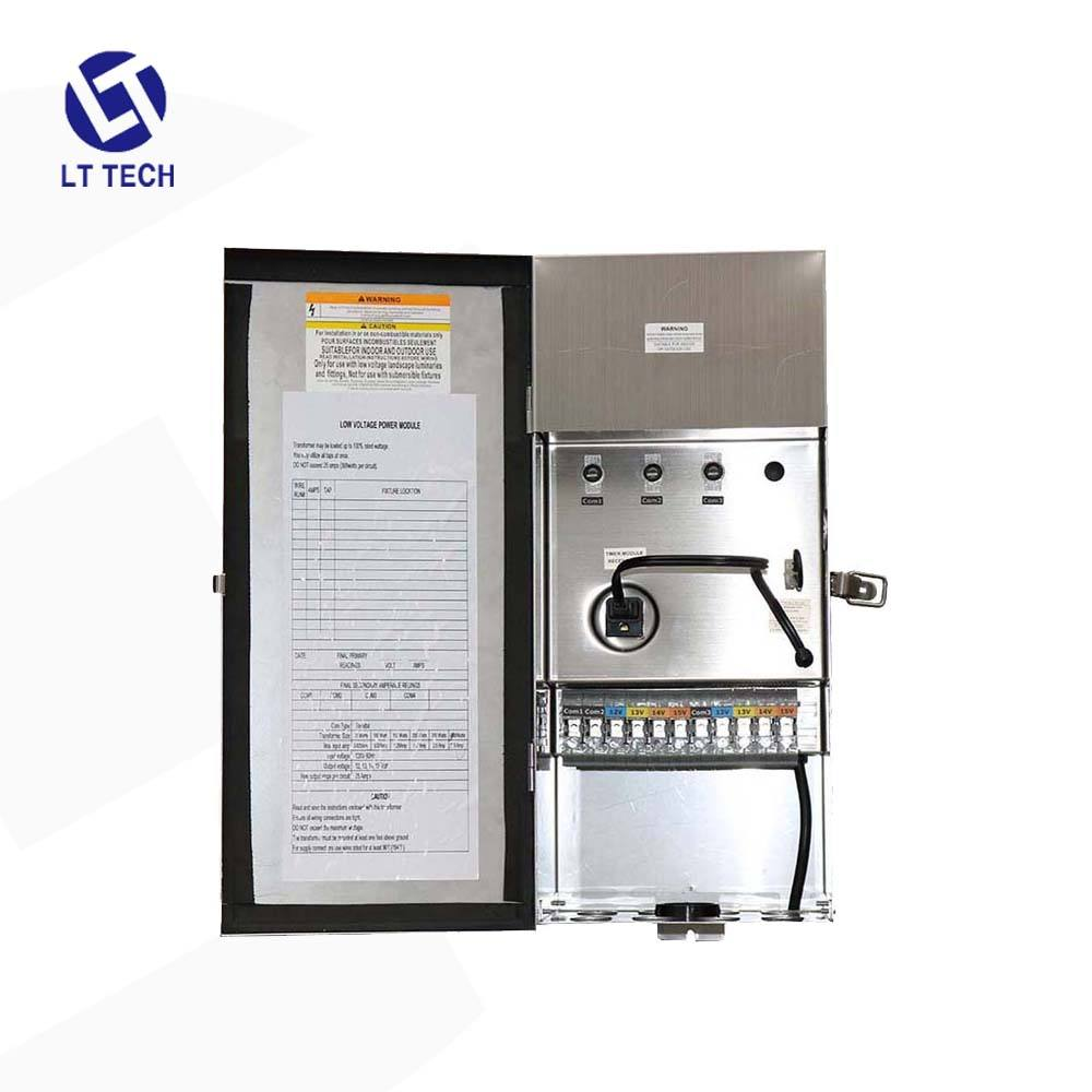 LT304 ETL LISTED 600W 120VAC Com1 Com2 12-22V 304 Stainless steel&silver Multi-tap transformer for low voltage lighting