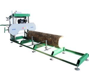Portable Kayu Sawmill Gergaji, Kayu Band Saw Mills Log Mesin Pemotong