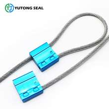 Quality-assured hexagonal number security container cable plastic covered seals