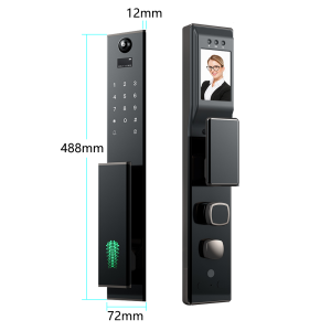 Ultra-thin smart APP fingerprint digital password M1 card electronic fully automatic camera door lock