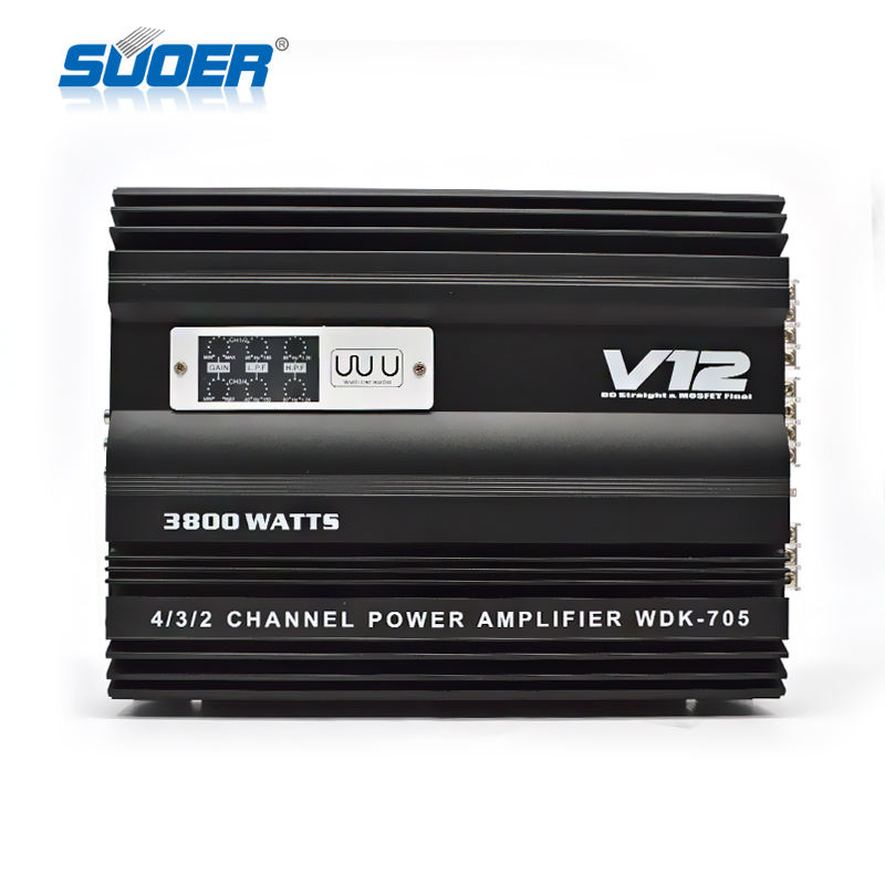 WDK-705 12V car power amplifier 4 channel sound digital car amplifier 5000W car audio amplifier 3800W