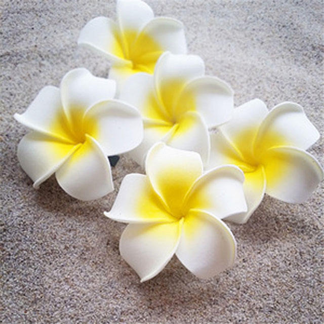 EVA foam Hawaiian plumeria flowers frangipani artificial flower