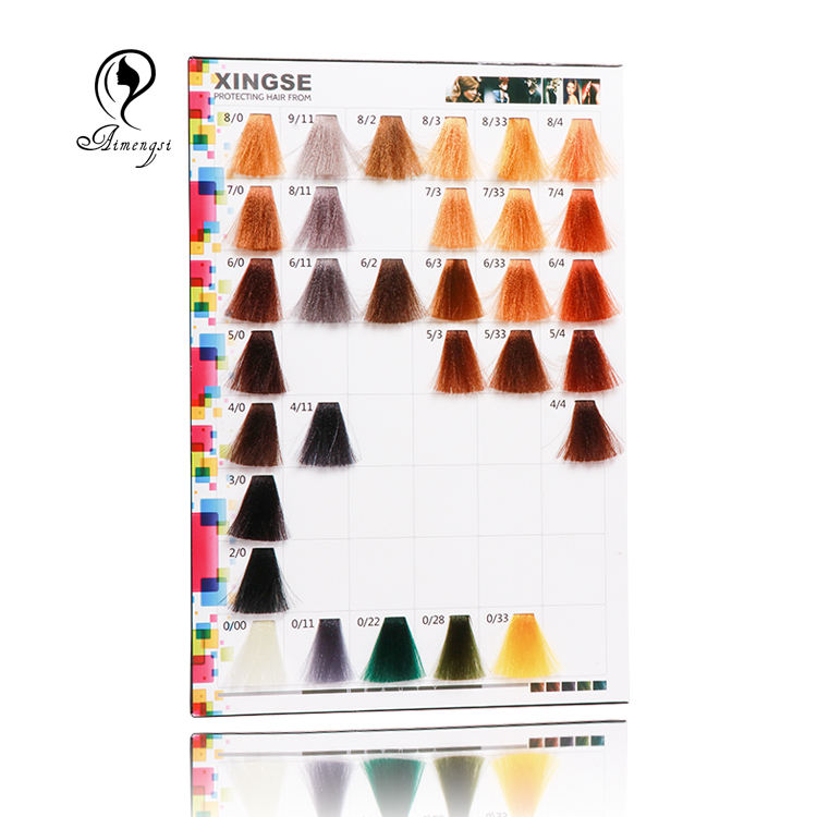 cheap price hair dye color chart for salon