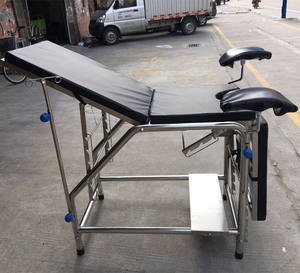 Medical Clinic Table Hospital Obstetric Bed Stainless Steel Gynecological Examination Bed