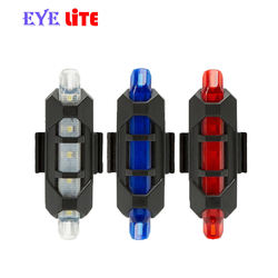 Portable Rechargeable LED USB Bicycle Rear Light
