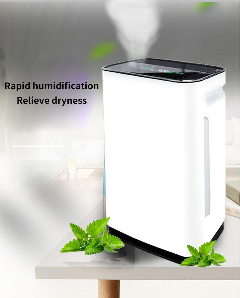 2020 Draagbare Smart Home Ware Hepa Filter Uv Ionisator Uvc Anion Ionen Ozon Generator Air Cleaner Luchtreiniger Met Luchtbevochtiger