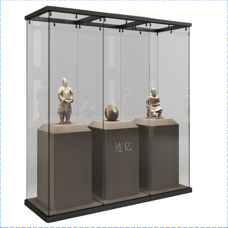 LTD New Design Museum Showcase Cultural Relics Glass Display Case