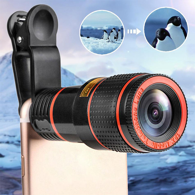 Optical Zoom 8X Mobile Phone Telescope Lens HD Telescope Camera Lens With Clip For Iphone for Samsung Universal