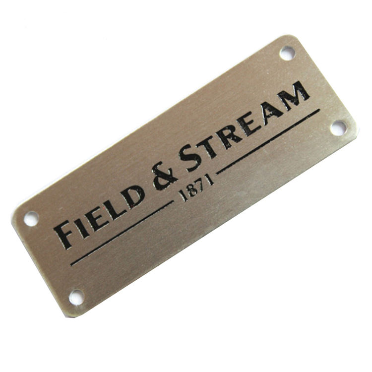 Logo Engraved Customized aluminium steel Tag Metal Plate