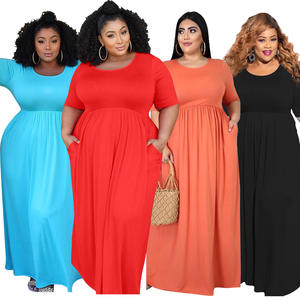 New Style Plus Size Dresses Women Summer Clothing Long Dress 5XL