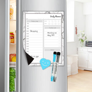 Dry erasable Magnetic monthly planner weekly planner magnetic white board memo board reusable for fridge for kitchen