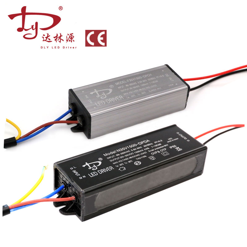 Waterproof IP65 Constant Current 20-35VDC PF0.95 4KV 6KV LED Lamp Driver Light outdoor 50W LED Driver 1500mA for Flood light