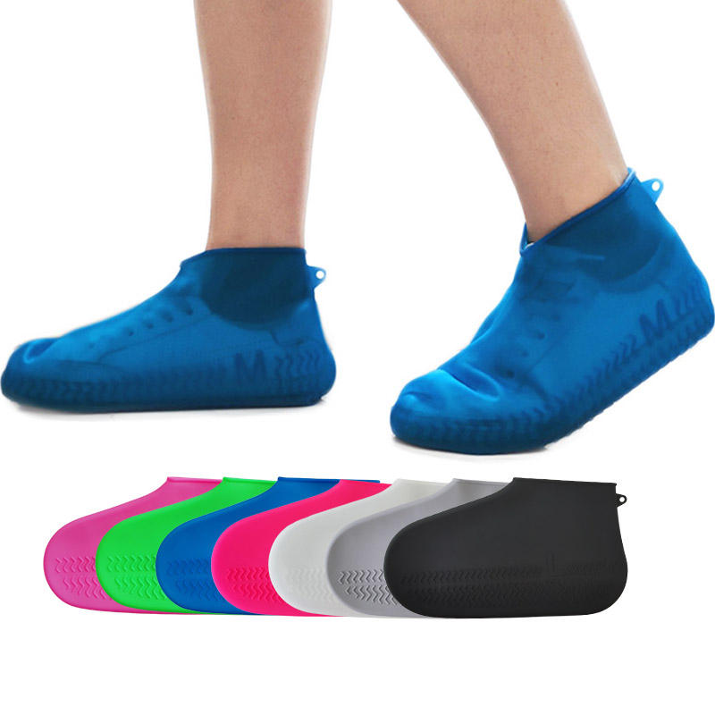 High Elasticity Non Slip Shoes Protector Waterproof Silicone Shoe Cover For Rain