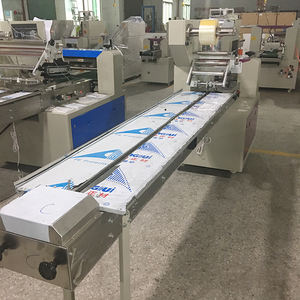 Packing Machine Drop Down Packaging Machine Low Cost Wafer Biscuit Pouch Flowpack Packing Machine