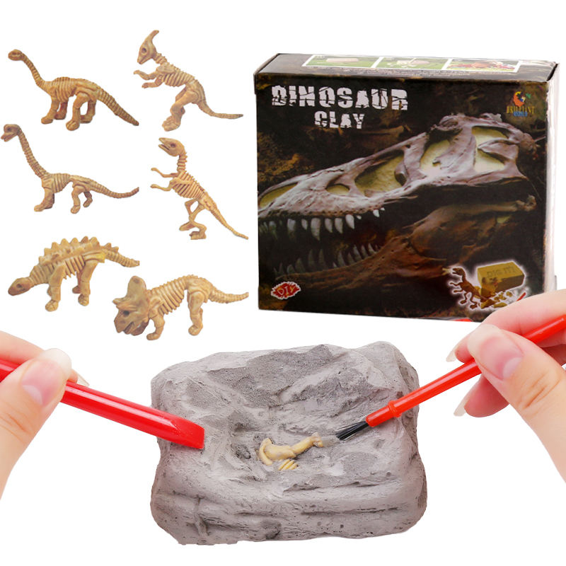 2020 Science Educational mini dinosaur toy DIY Archaeological Excavation Set dig kit fossils dinosaur kids Toy