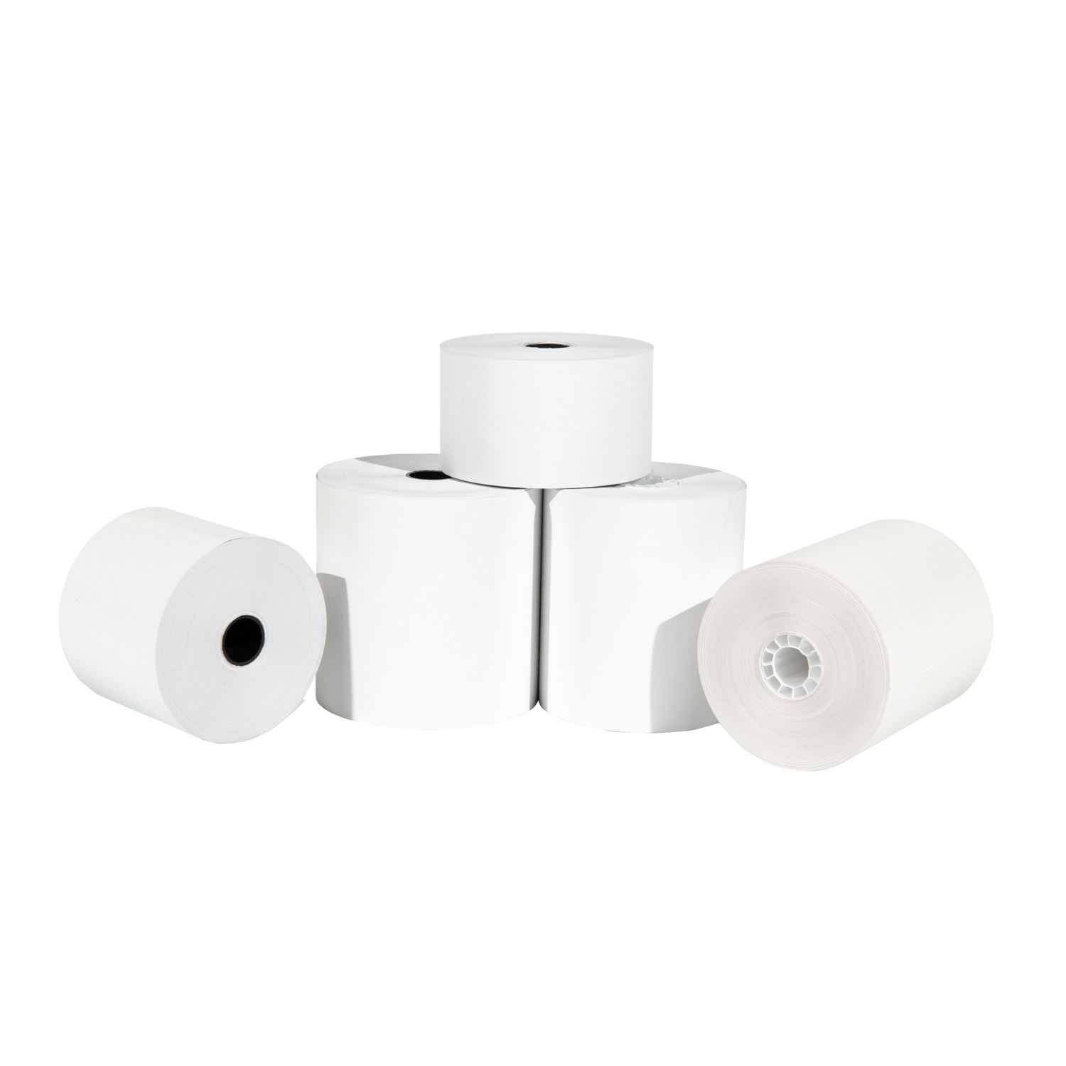 Pos receipt rolls coreless thermal cash register paper rolls 57mm