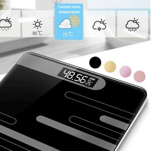 DIHAO Bathroom Floor Body Scale Glass Smart Electronic Scales USB Charging LCD Display Body Weighing Home Digital Weight Scale