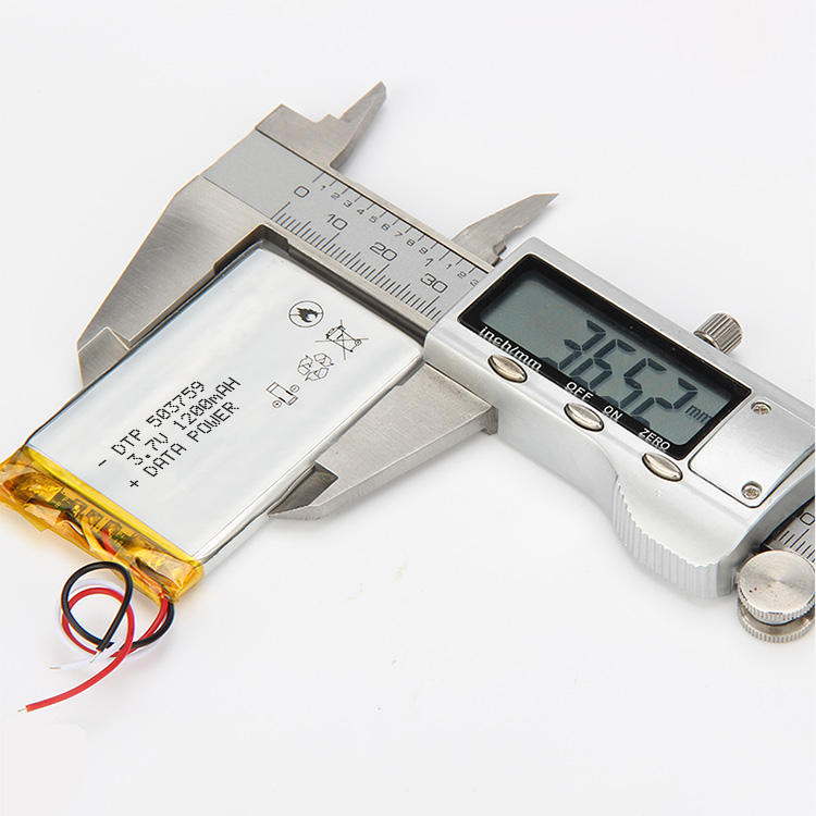 Light weight customized size 3.7v recharge battery