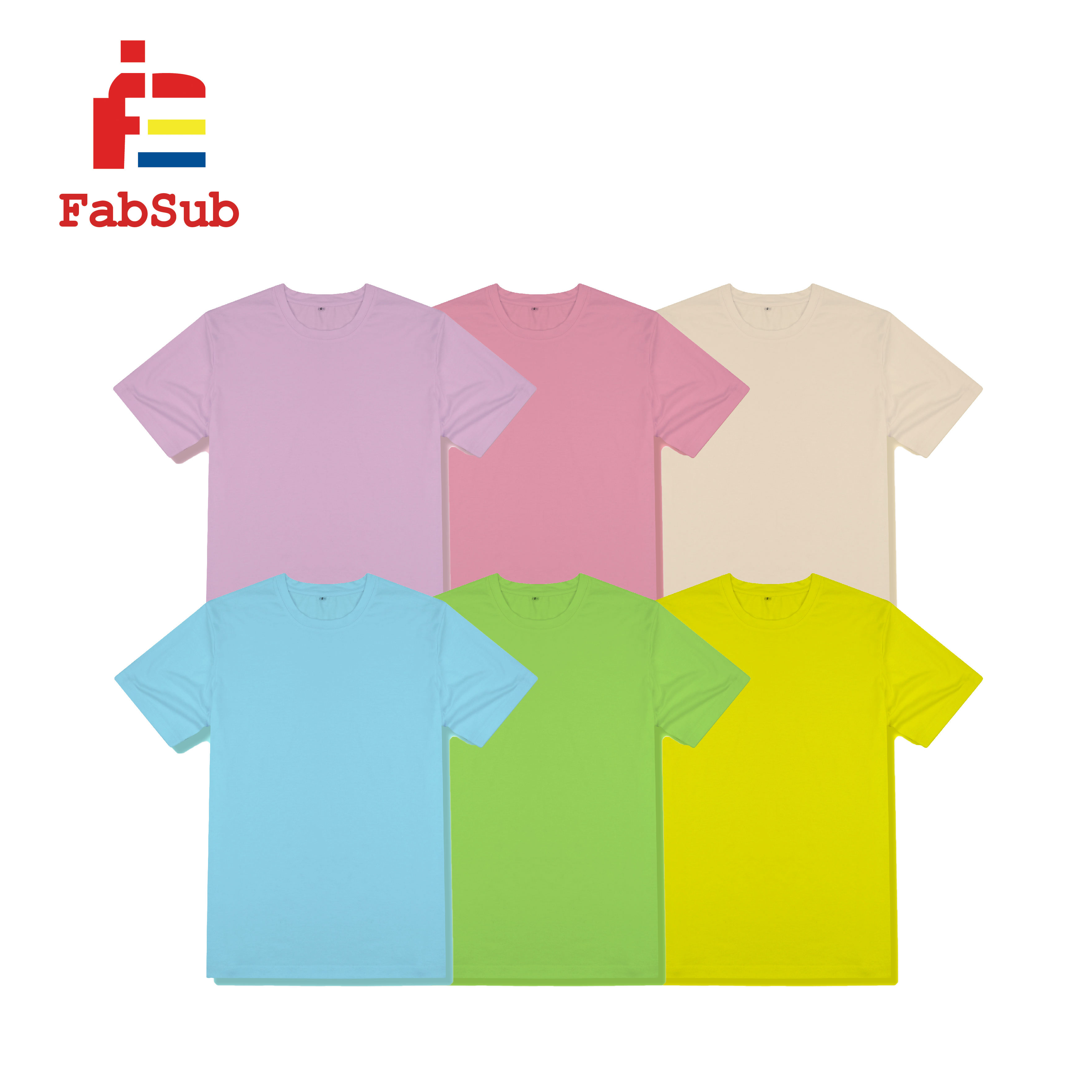 Factory Custom Print Plus Size T-shirts for Heat press Machines Plain Pastel Color Sublimation 100% Polyester T shirt