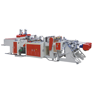 automatic polythene nylon plastic bag production line making machine plastic handle carry bag making machine manufacturer price