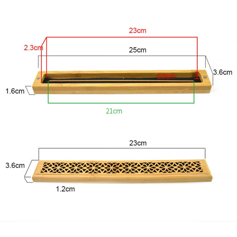 Bamboo Incense Burner Handmade Incense Stick Burner Box Coffin