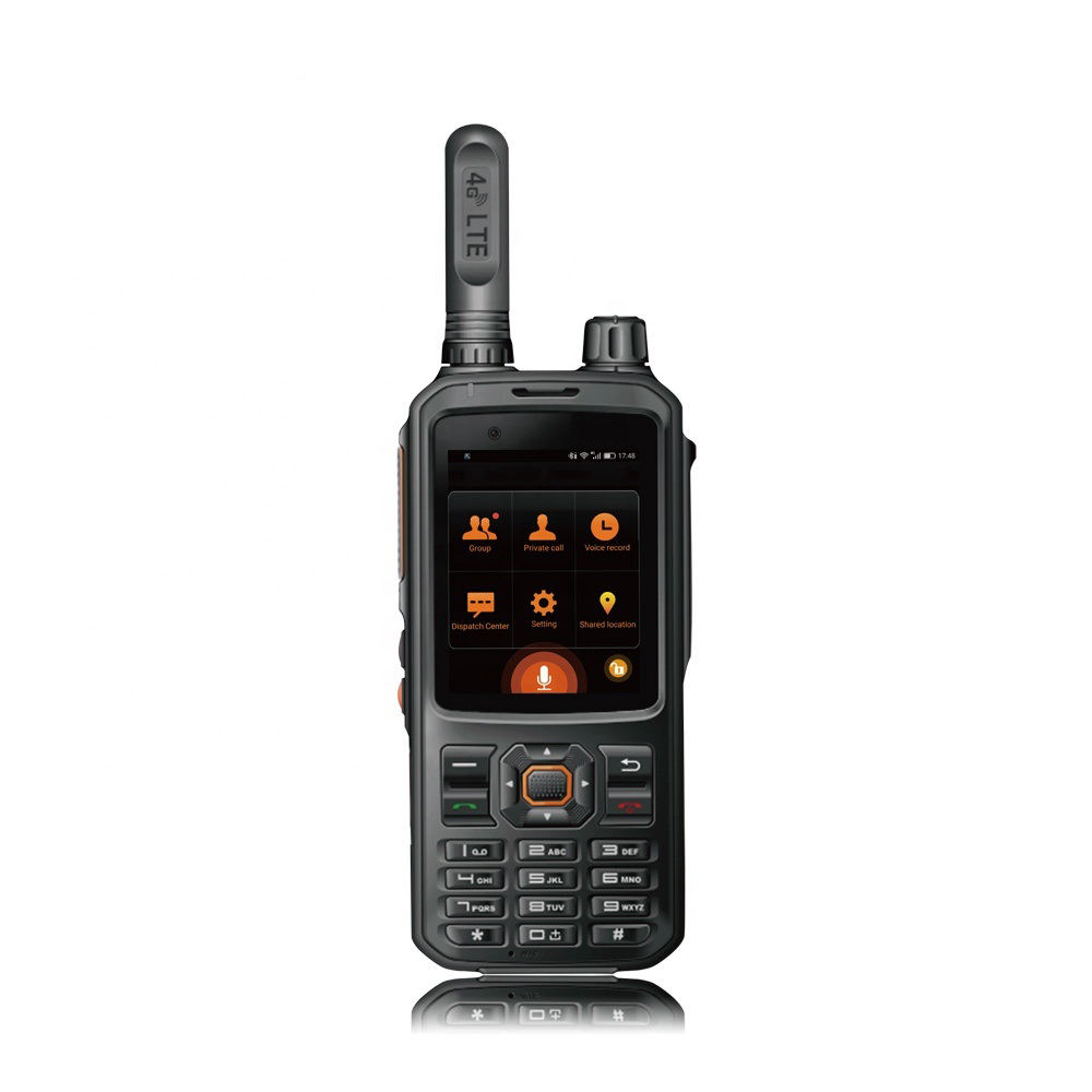 2019 New design vhf radio with GSM phone WIFI 4G Android system walkie talkie LTE POC GPS two way radio T320