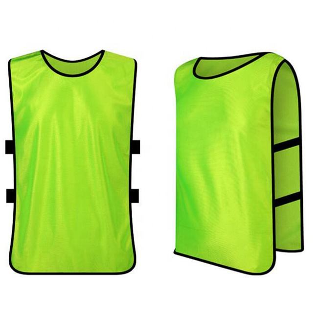 factory price sublimation reflective youth and adult soccer training bibs vest with numbers
