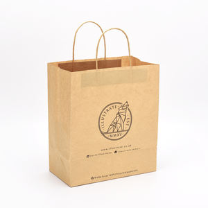 New fashion brown kraft paper bags with logo print