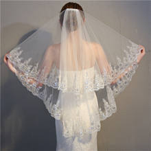 2019  Wholesale bridal veils white lace wedding veils and accessories for women