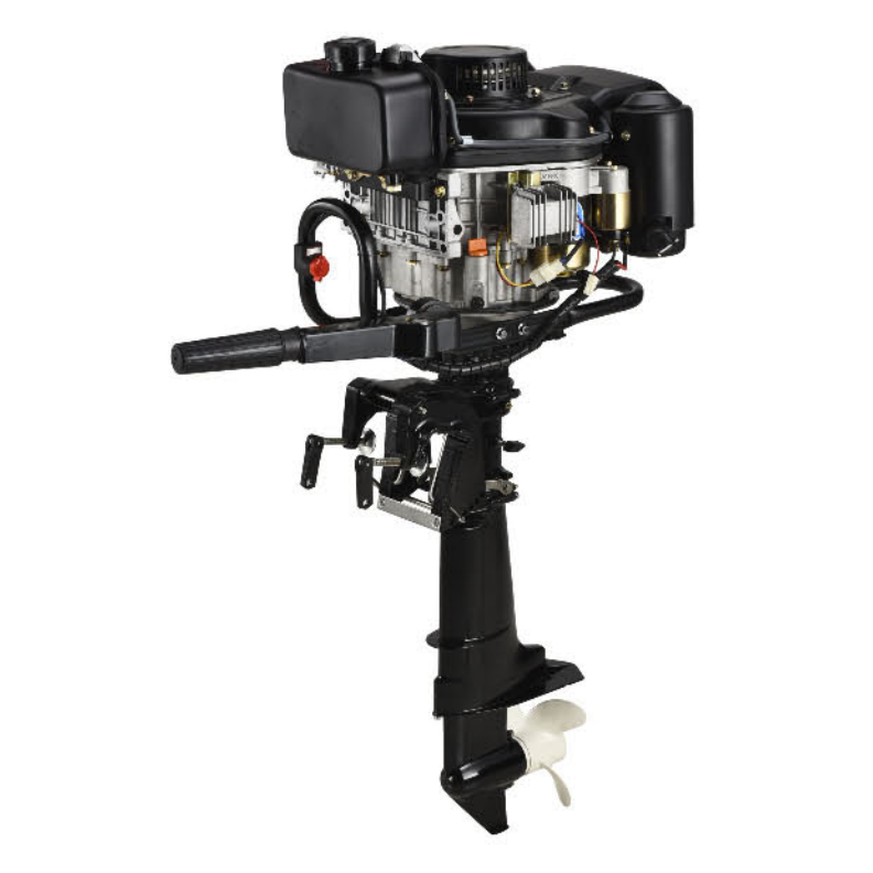 Hot sale 4 stroke air cooled diesel engine 8HP 247cc outboard motor with gear shaft boat engine
