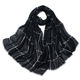 Factory Wholesale Women Grid Hijab cheap cashmere Black Plaid Scarf