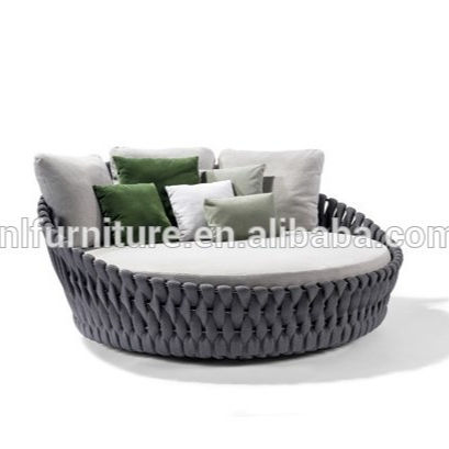 China good quality outdoor Garden furniture rope woven outdoor Sunbed Lounger
