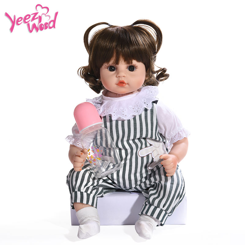 Wholesale education popular plush dress baby doll Fashion Doll Babies Lifelike reborn baby Toys