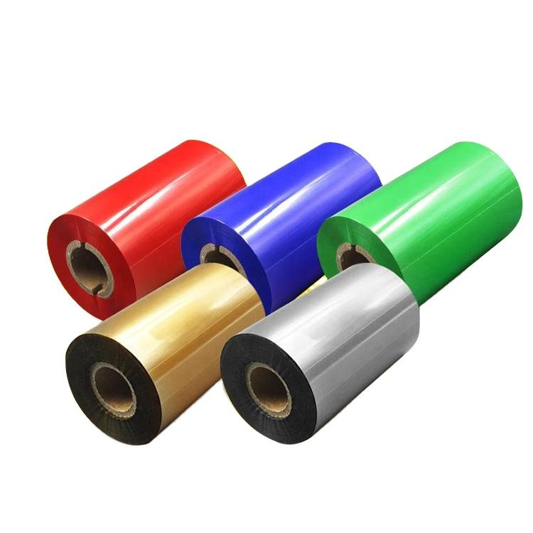 110mm*300m color red white black print premium wax resin barcode ttr tto ink labels thermal transfer printer ribbon manufacturer