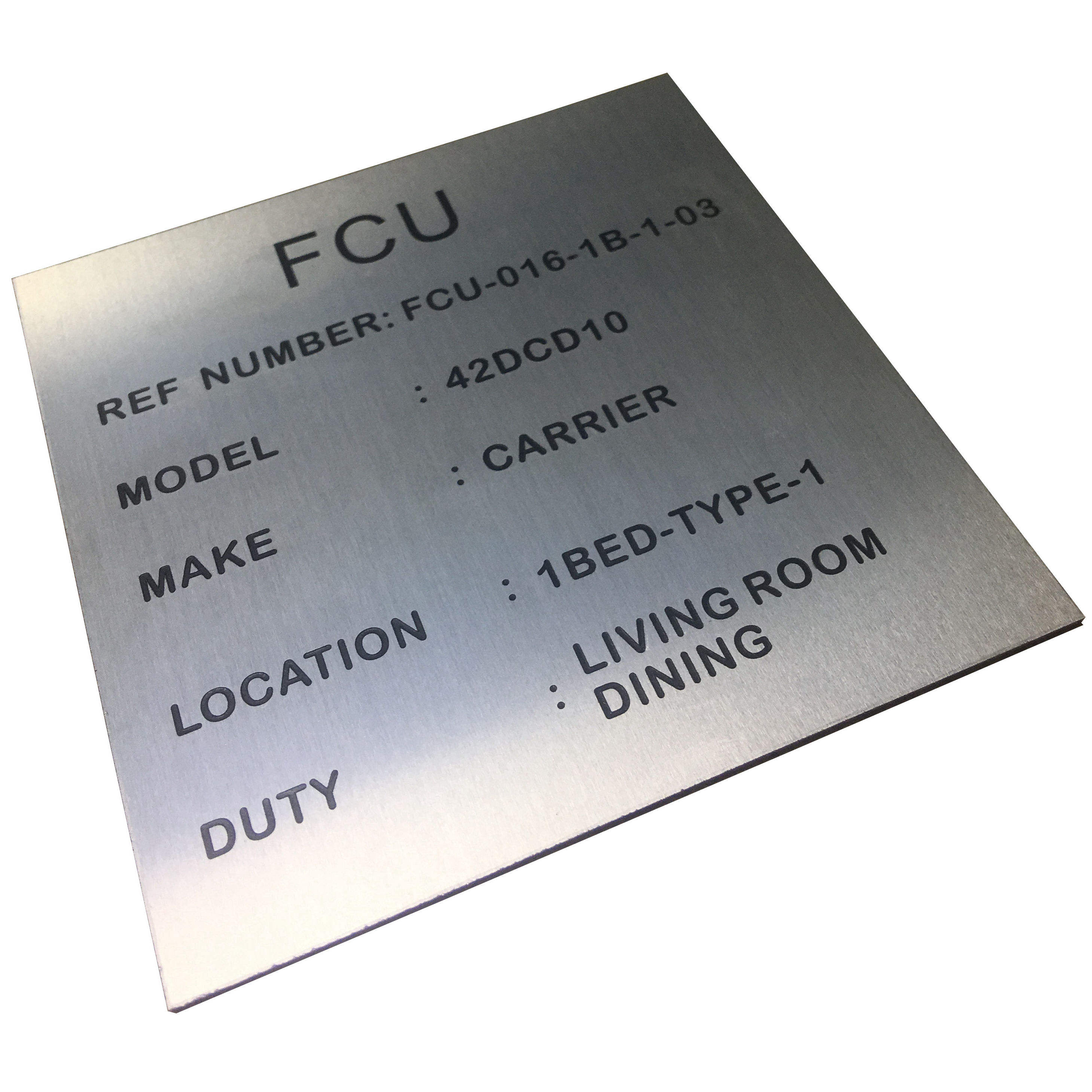 Etching paint Aluminum Metal Anodized Plate Labels/Tag/Sign