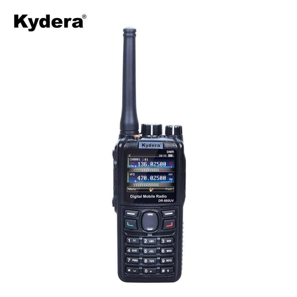 Repeater function Uhf vhf DMR radio DR-880UV handheld two way radio police army using thailand walkie talkie from kydera