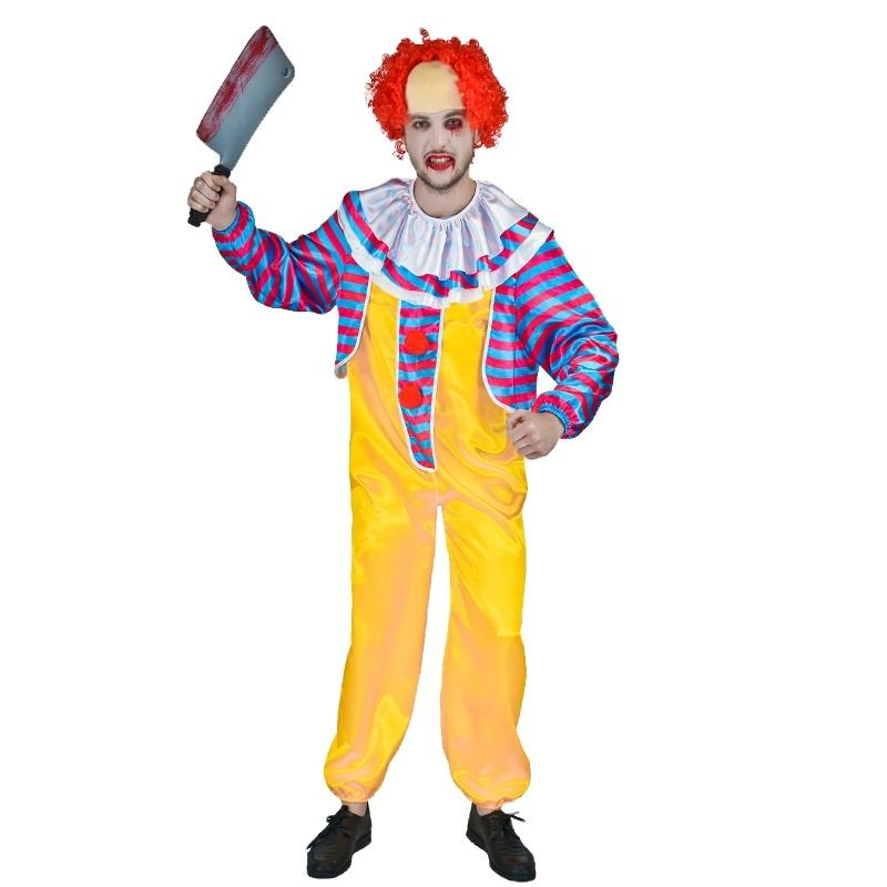 Wholesale Halloween Scary Horror Killer Clown Costumes Carnival Party Evil Clown Costume For Adult Man