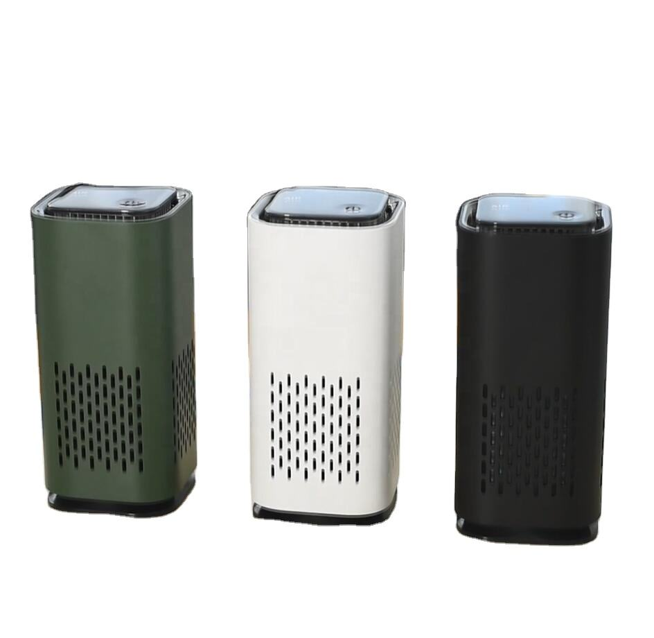 mini portable air purifier Capture airborne particles, dust, pollen, smoke, odor, germ mold and pet dander in car home office