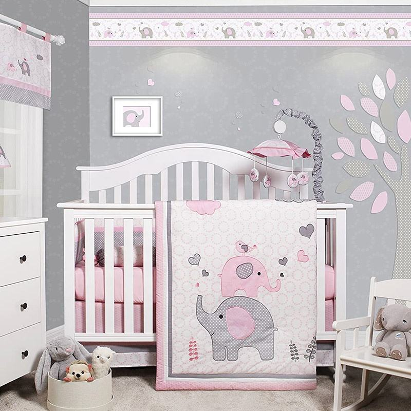 Customized Cute Baby Quilt Crib Bedding Set