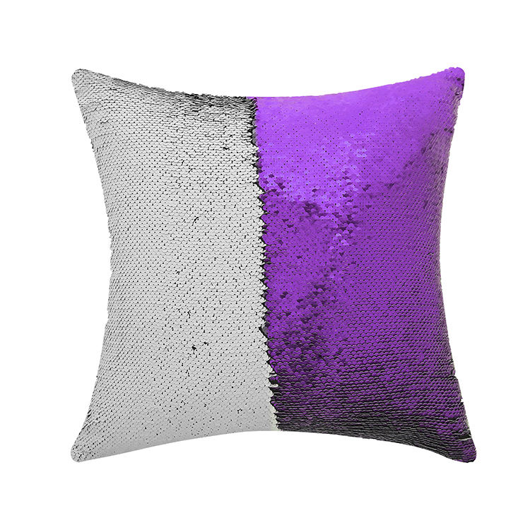 10 Inch Square Shaped Color Changing Sequin Pillow