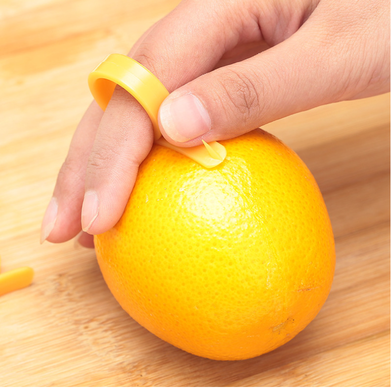 Daily Kitchenware Ring Shape Peel Use Mini Orange Peeler