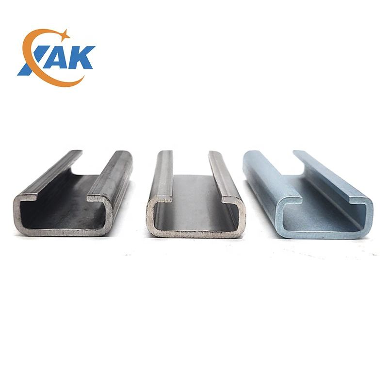 XAK 2020 Cold rolled Cast in channel metal building materials strut slotted halfen channel 38*17